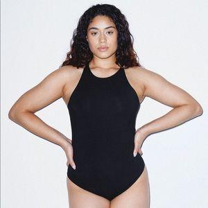 NEW American Apparel Black Sleeveless Bodysuit L